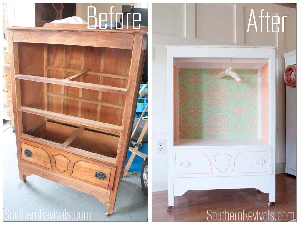 Repurposing An Old Chest Of Drawers Into A Play Wardrobe Southern Revivals