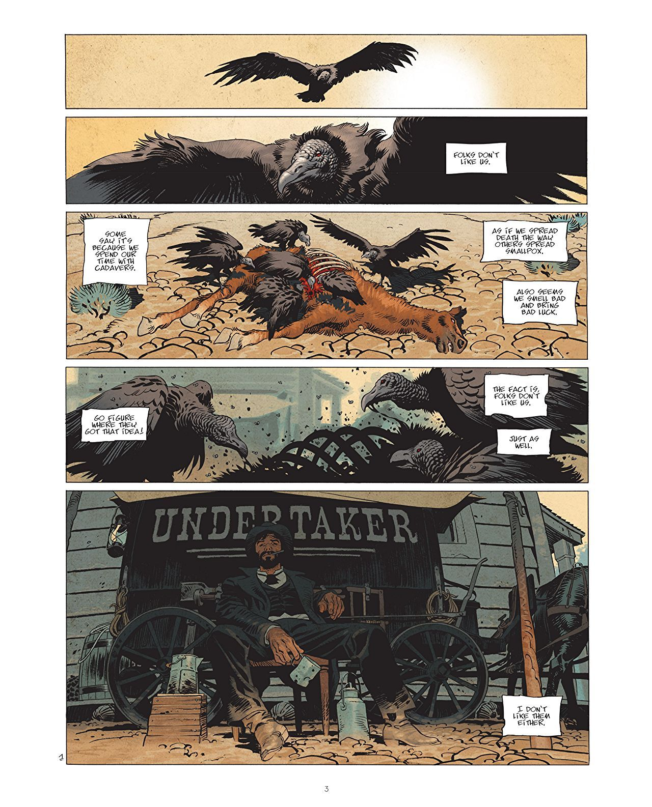 Undertaker Vol 1 The Gold Eater Comics By Comixology Undertaker Comics Art Pages