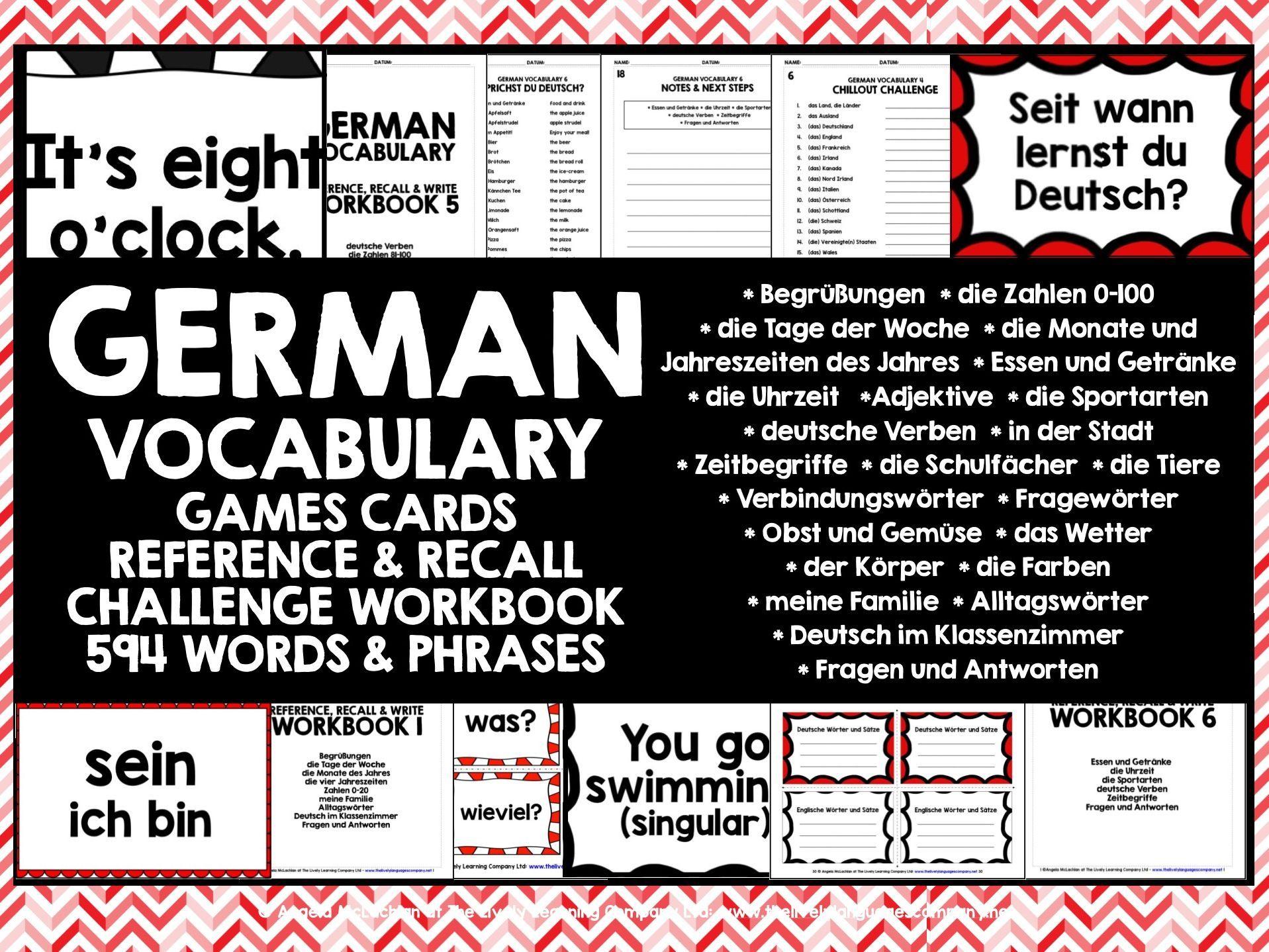 German Vocabulary Cards 2 German Germanvocabulary With