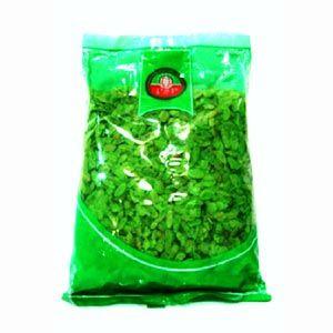 Arroz verde de Vietnam de PSP. Envase de 200gr. No es exactamente un arroz, sino unas escamas de arroz glutinoso y prensado en una capa de color verde. La mejor manera de cocinarlo es rehidratándolo.