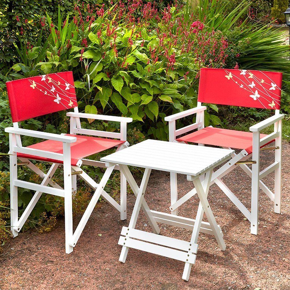 Garden patio furniture set outdoor folding director chair wooden