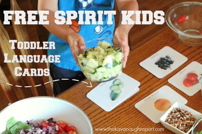 Free Spirit Kids Toddler Language Cards with Giveaway (Ending 9/4)! Perfect for #montessori #totschool