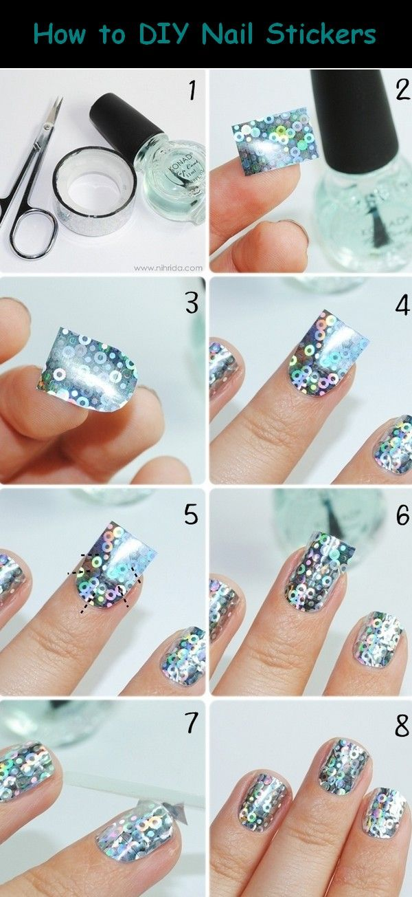 How to DIY Nail Stickers. | Nail care advice | Pinterest | Nail ...