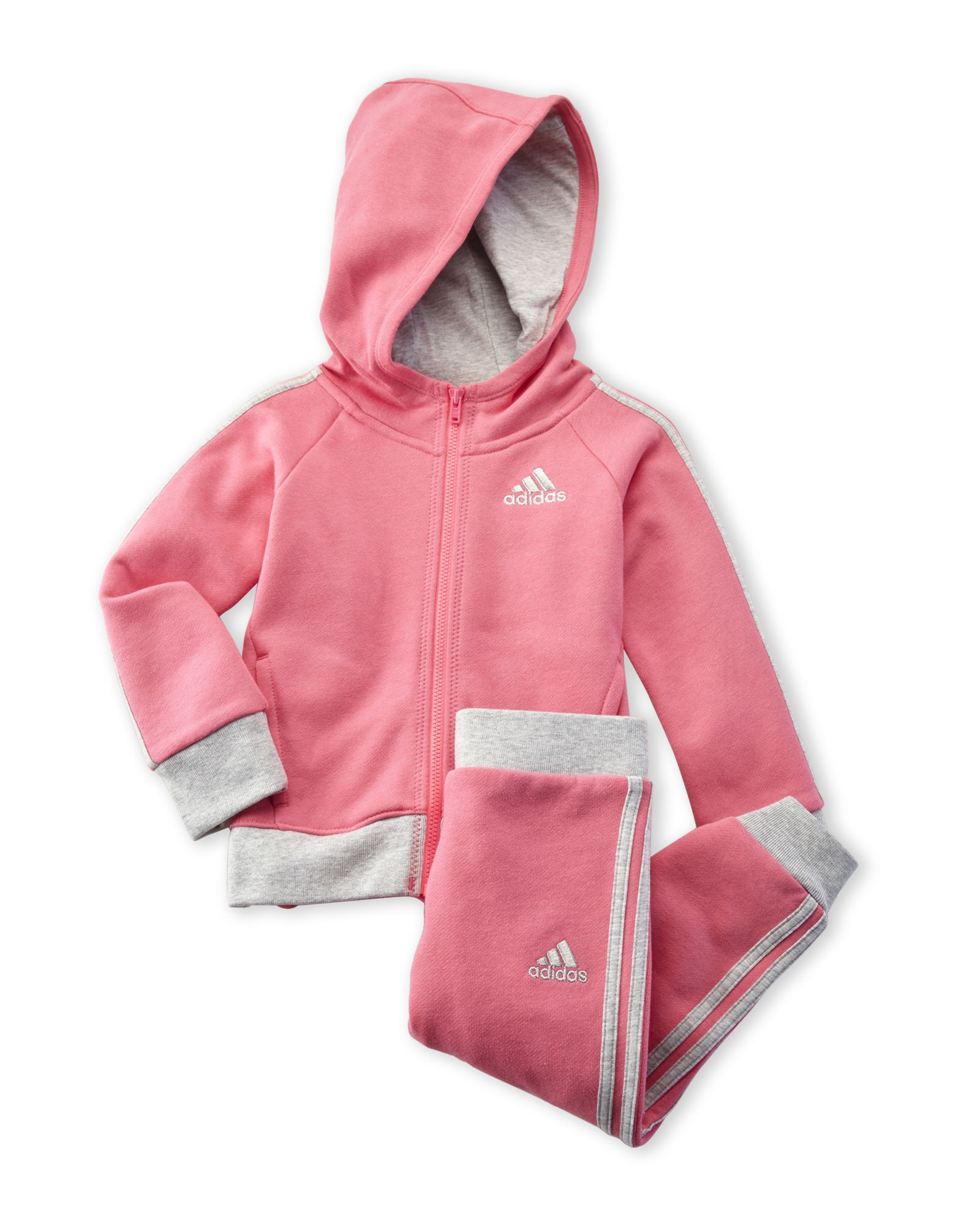 f3198945 Adidas (Infant Girls) Two-Piece Pink Fast Fleece Sweatsuit | ☆ The ...