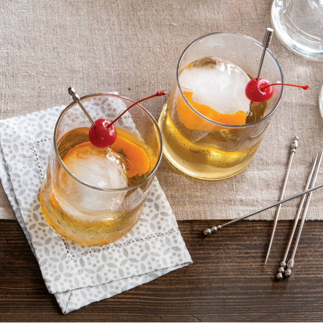 Spiced Rum Old-Fashioned