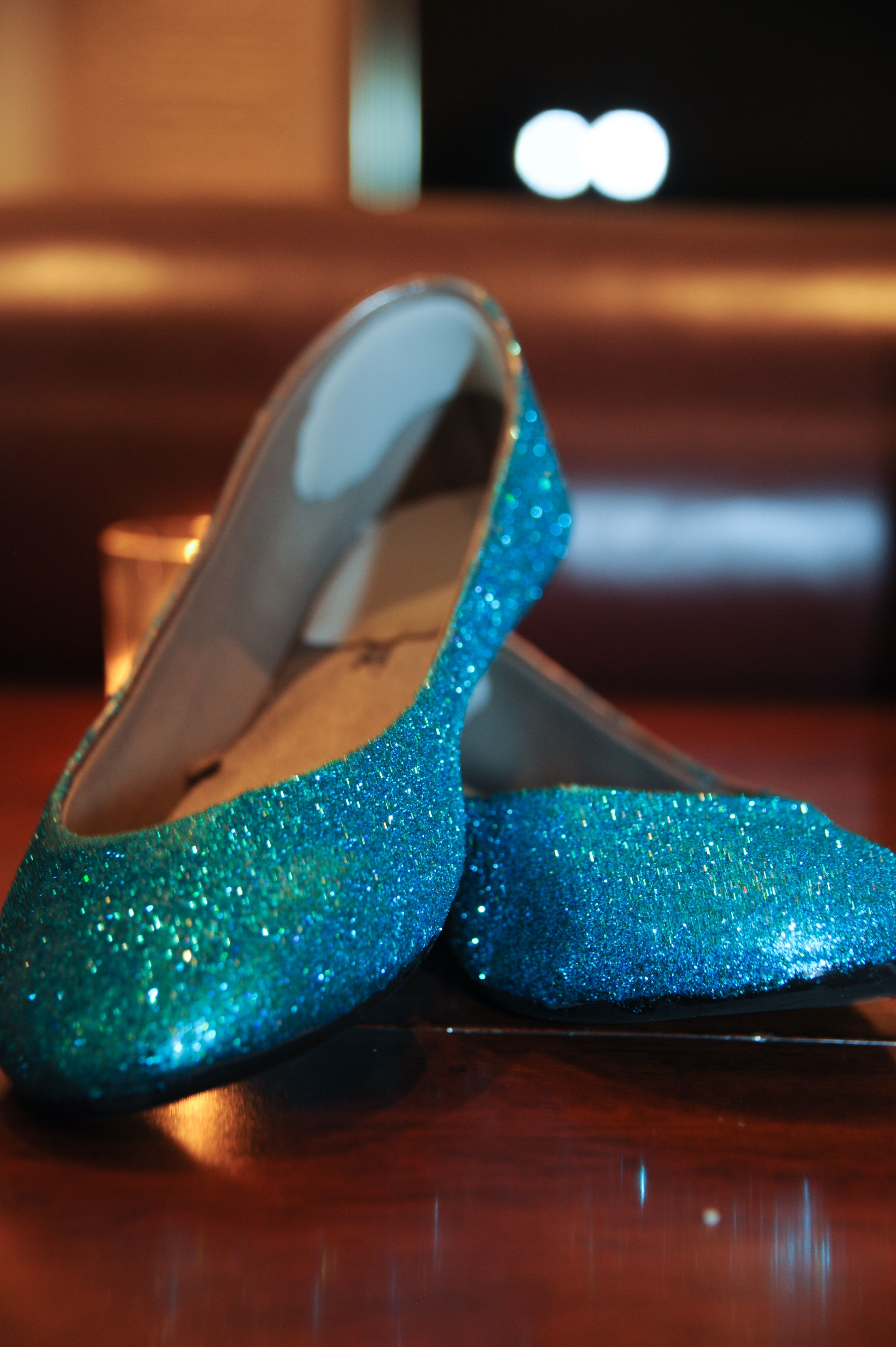 Glittery reception shoes