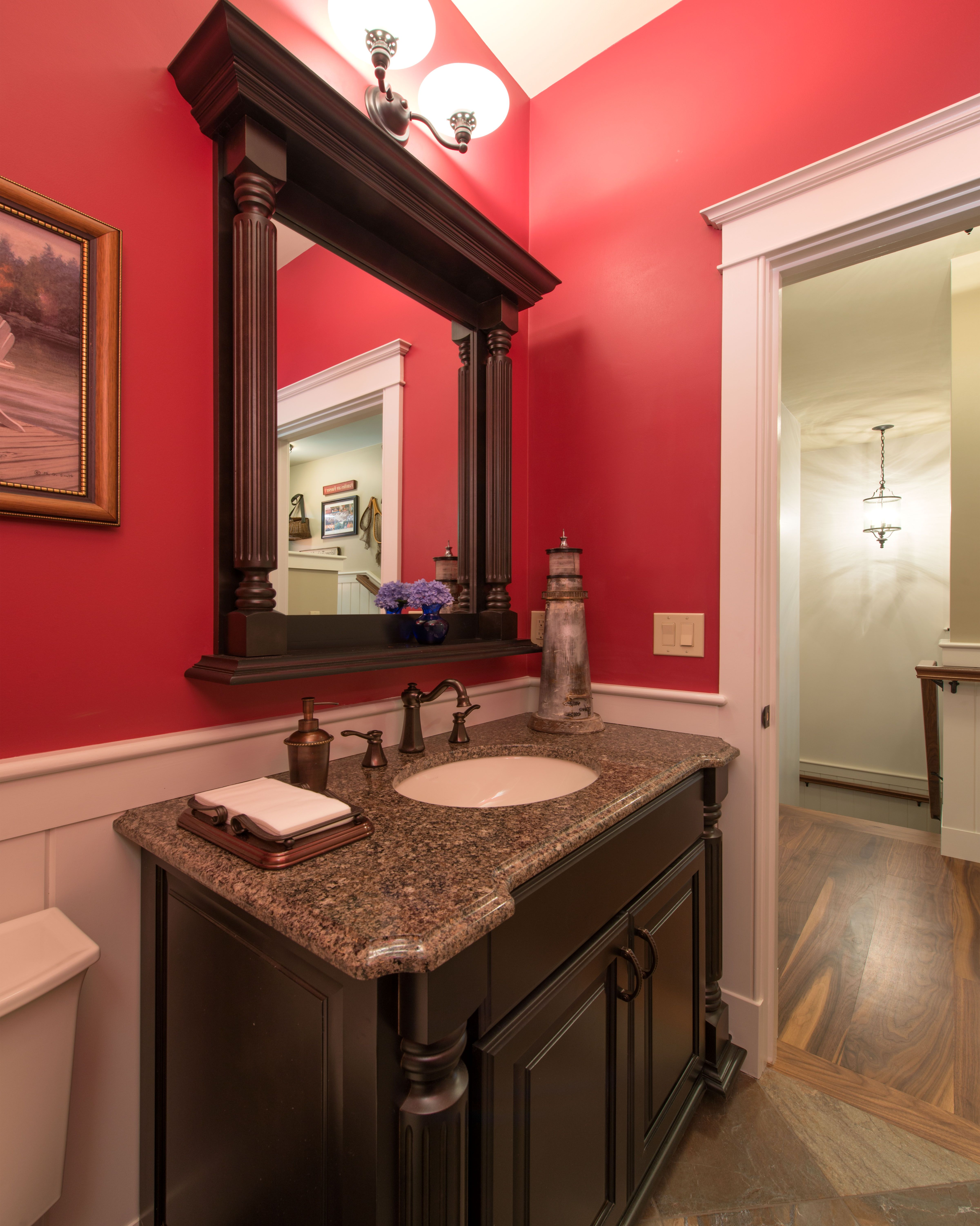 Half Bath. Vanity With Matching Mirror. Cabico Cabinetry Www