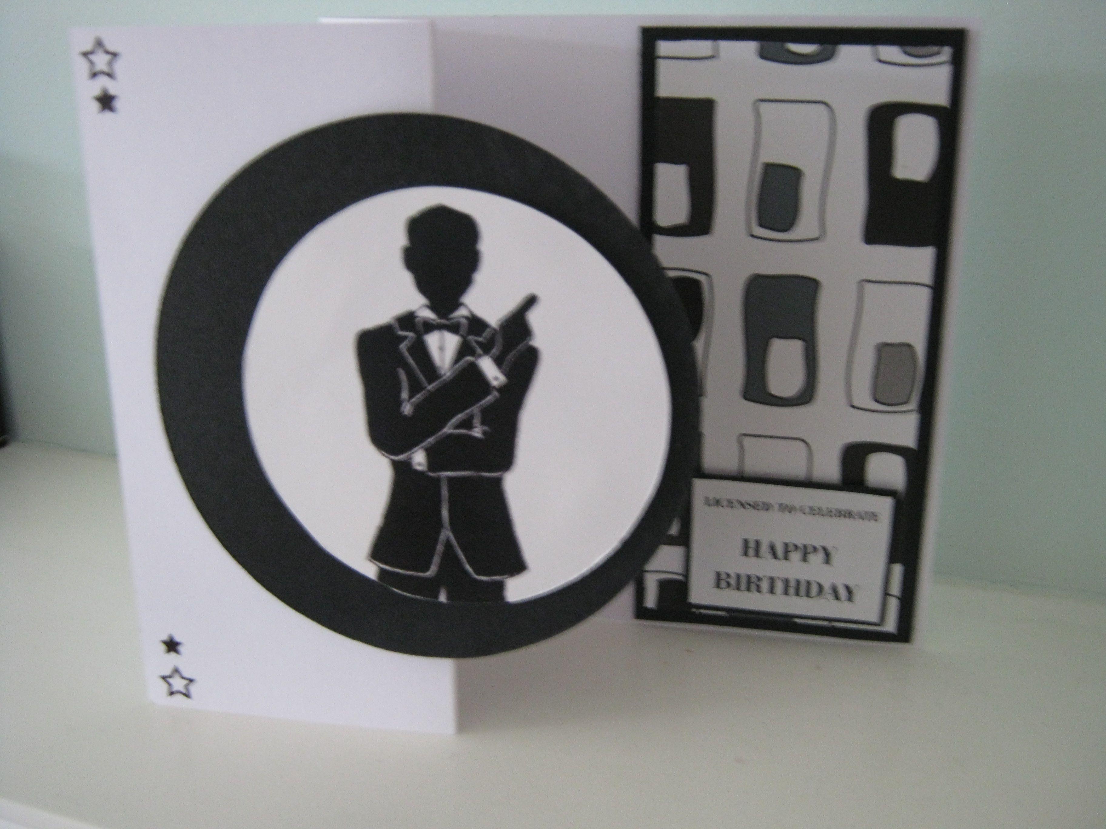 James Bond Birthday Card Male Cards Birthday Cards I Card