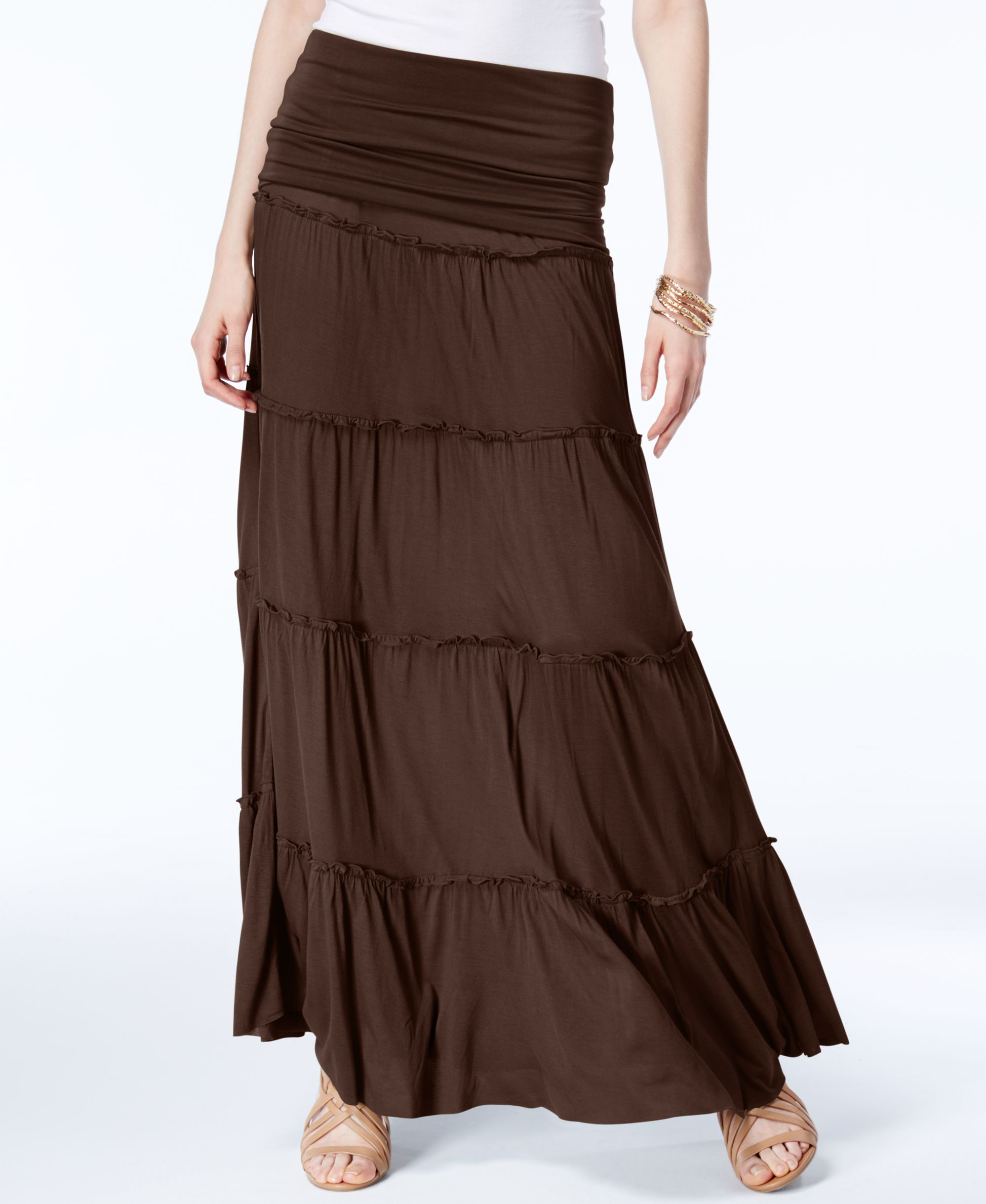 f0016663a6f Inc International Concepts Tiered Convertible Maxi Skirt