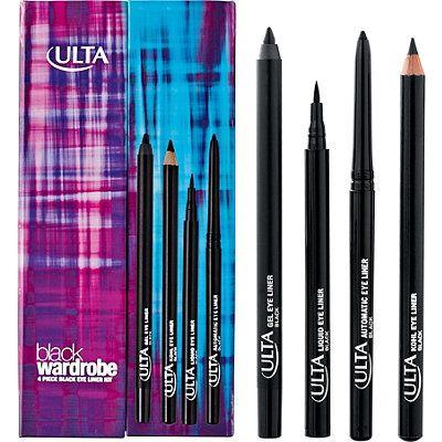 only at ulta black wardrobe eye liner kit  makeup gift