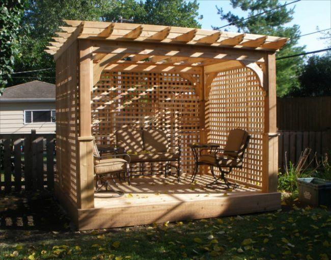 Klettergerüst Pflanzen Holz : Design idee pergola klettergerüst pflanzen schatten sitzecke