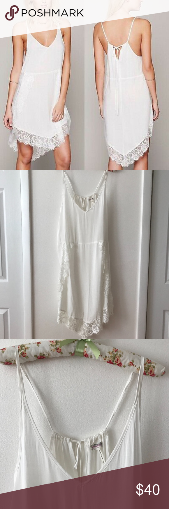 Intimately Free People White Lace Trim Slip Dress Slip Dress White Lace Free People Dress [ 1740 x 580 Pixel ]