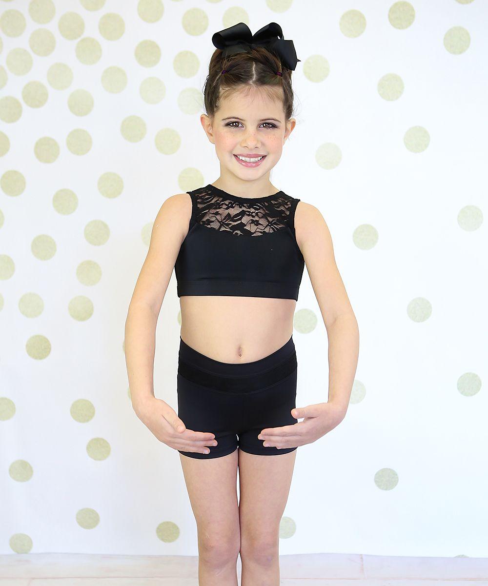 ea617f202c Black Lace Half-Top   High-Waist Shorts - Toddler   Girls
