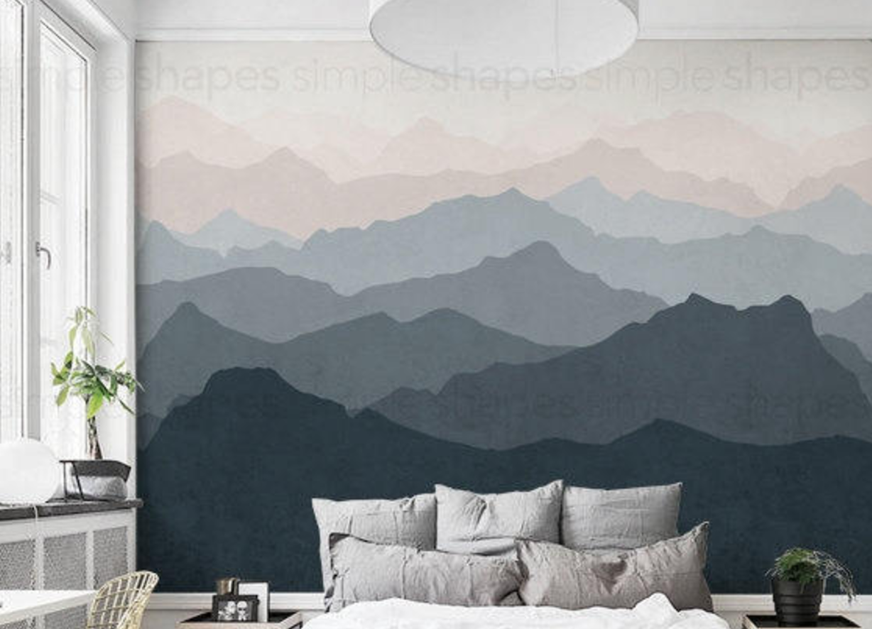 Amazing mountain mural removable wallpaper from Little
