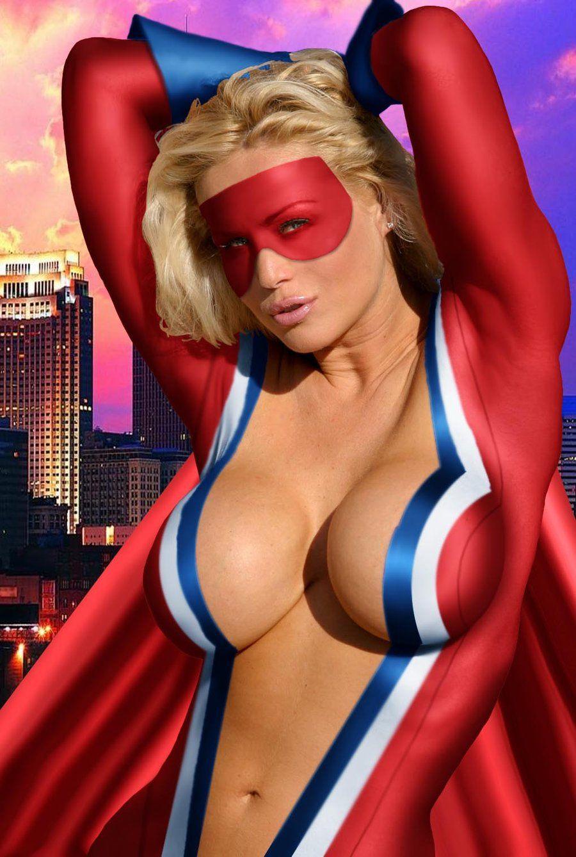 Sexy superhero cosplay