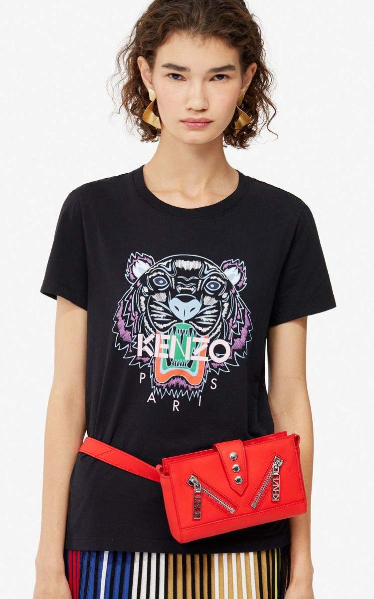 6d428467e3 BLACK Tiger t-shirt for women KENZO | People in 2019 | Tiger t shirt ...