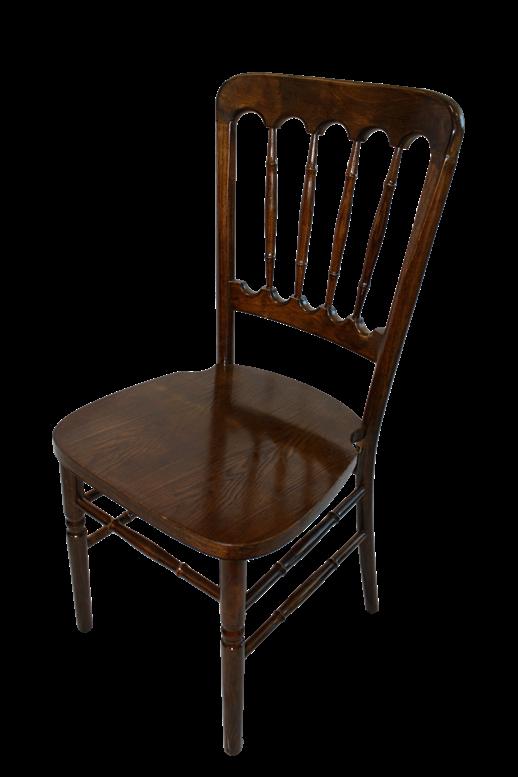 NAPOLEON WOOD Chair., Banquet Chairs, Fabric Cushion
