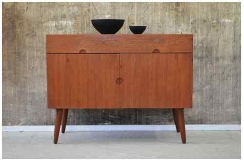 60er BRAMIN Teak KOMMODE Sideboard DANISH DESIGN 60s HW KLEIN Cabinet Chest