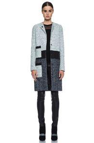 Proenza Schouler Tweed Collarless Coat
