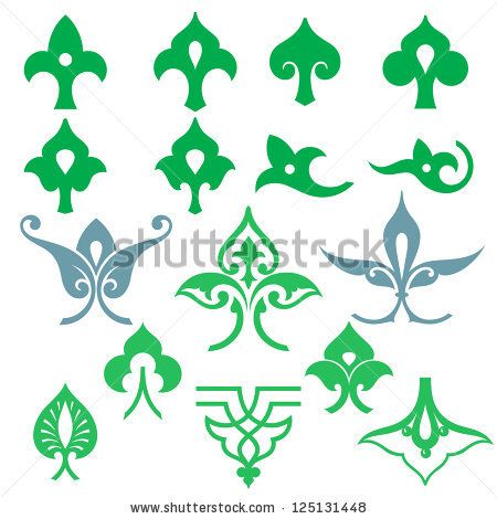 arabic oriental ornament floral pattern motif arabesque. Black Bedroom Furniture Sets. Home Design Ideas