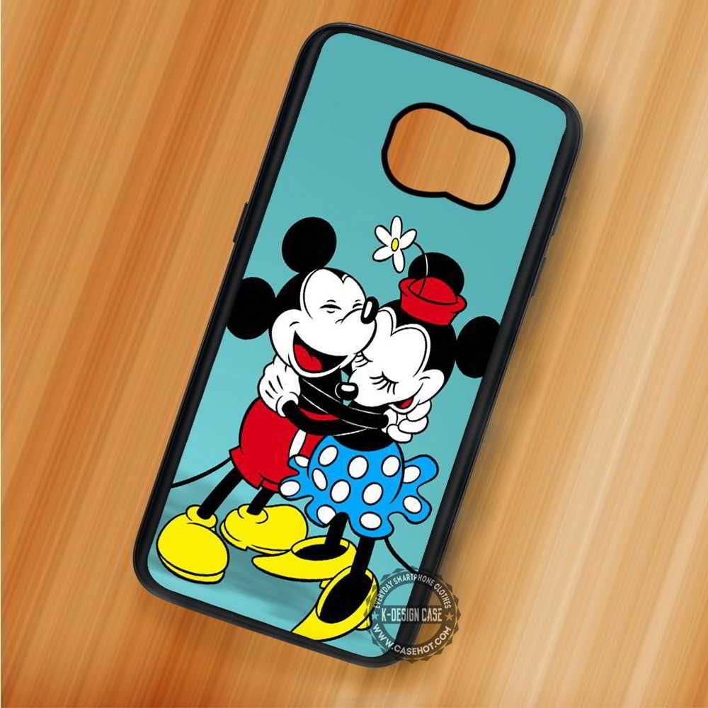Mickey & Minnie Hugging Vintage Mouse Disney - Samsung Galaxy S7 S6 S5 Note 7 Cases & Covers