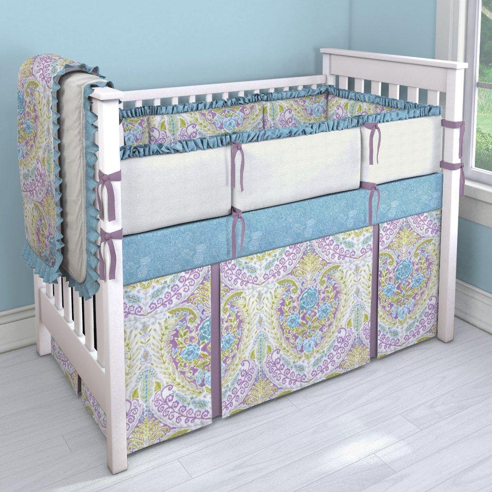 Aqua and Purple Jasmine 2 Nursery Idea | Customizable Crib ...