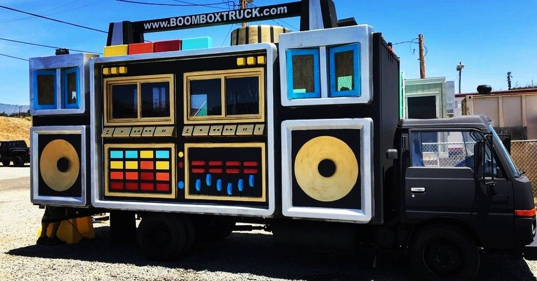 Boom Box Truck (With images) | Truck design, Food truck design ...