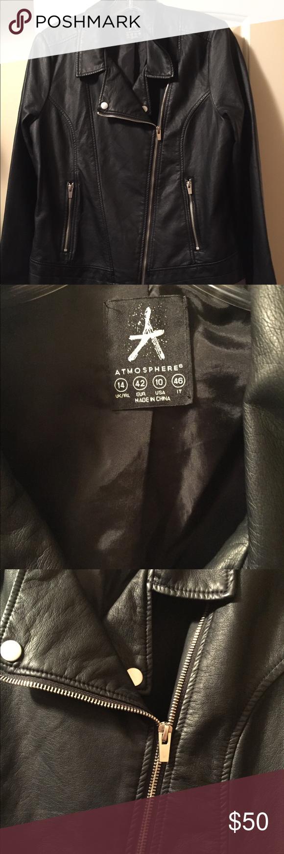 Atmosphere Moto Jacket Super soft and supple black vegan