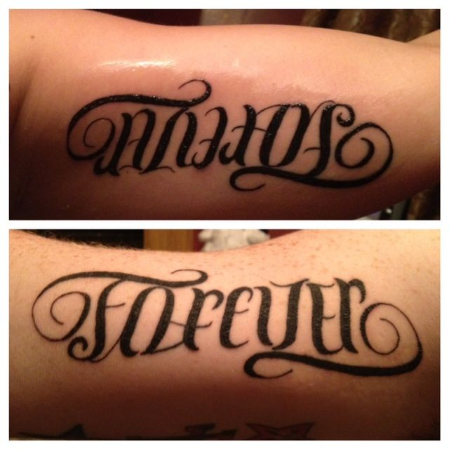 Always And Forever Tattoos That My Husband And I Got When Read
