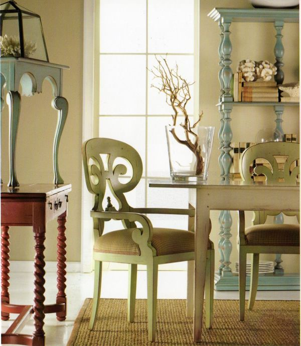 Room View 12 I Should Paint My Shelves Like These Blue Antiqued Ones Shown Furniture Creative Home Decor Furniture Design