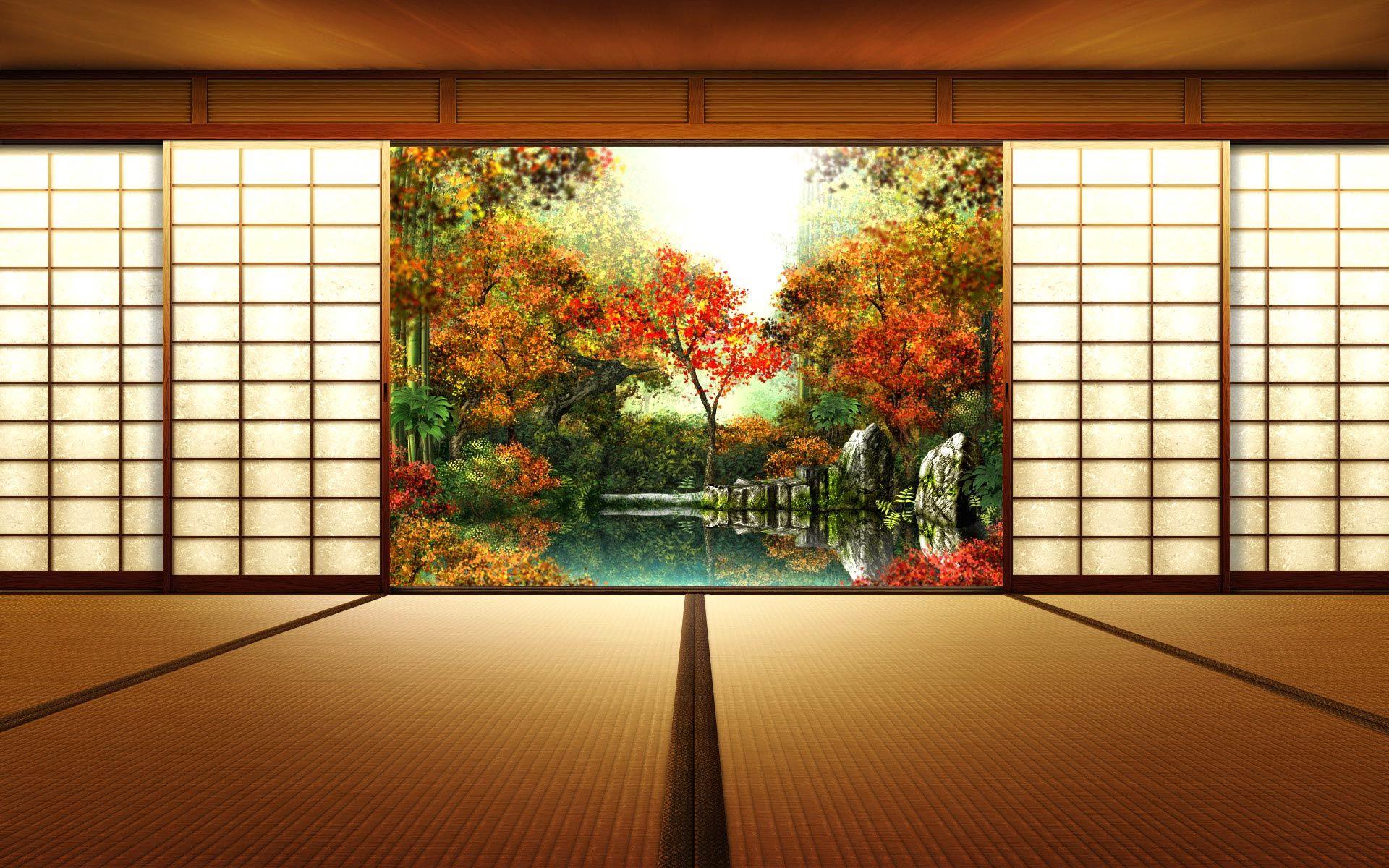 Japanese Traditional Interior Design tatami room and japanese traditional garden | japanese gardens