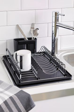 Black Single Tier Metal Drainer from Next