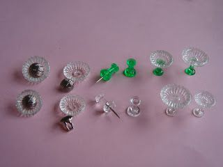 My little little dream: Подарок от Марии. Maria's gift. glasses made of push pins and buttons