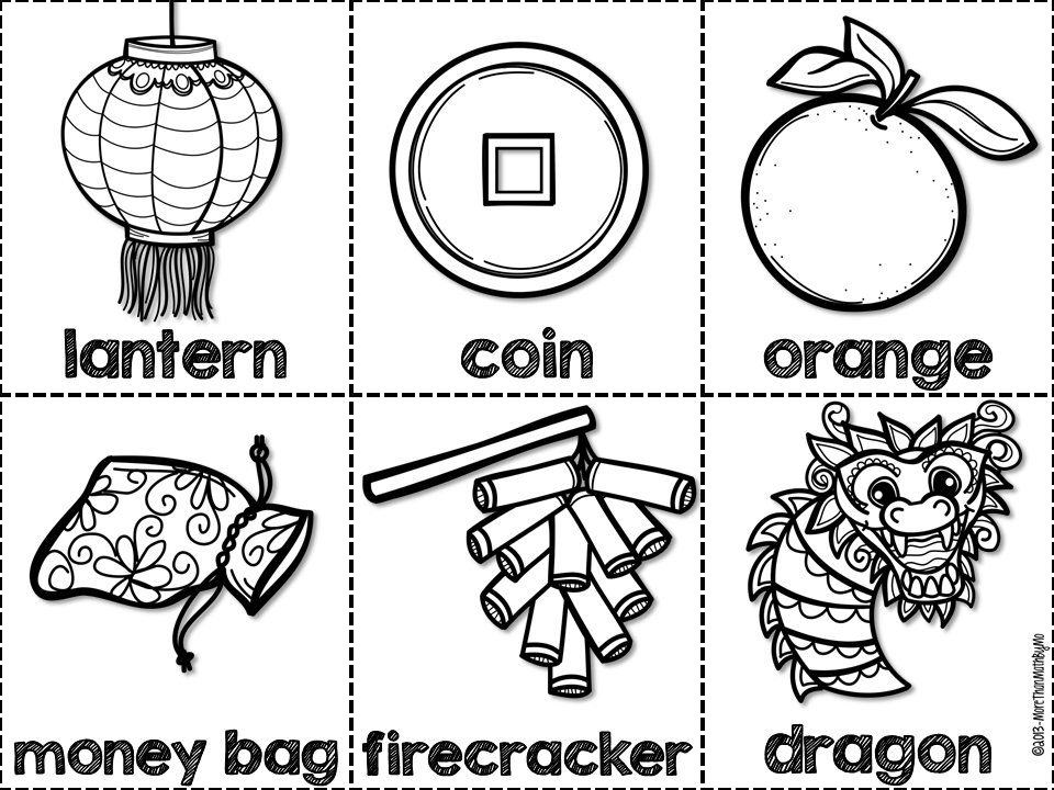 View Document Chinese New Years Day Bingo Cards Clip Art