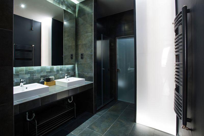 studio loft in barcelona bathroom double sink home decorating trends homedit - Barcelona Home Trends And Designs