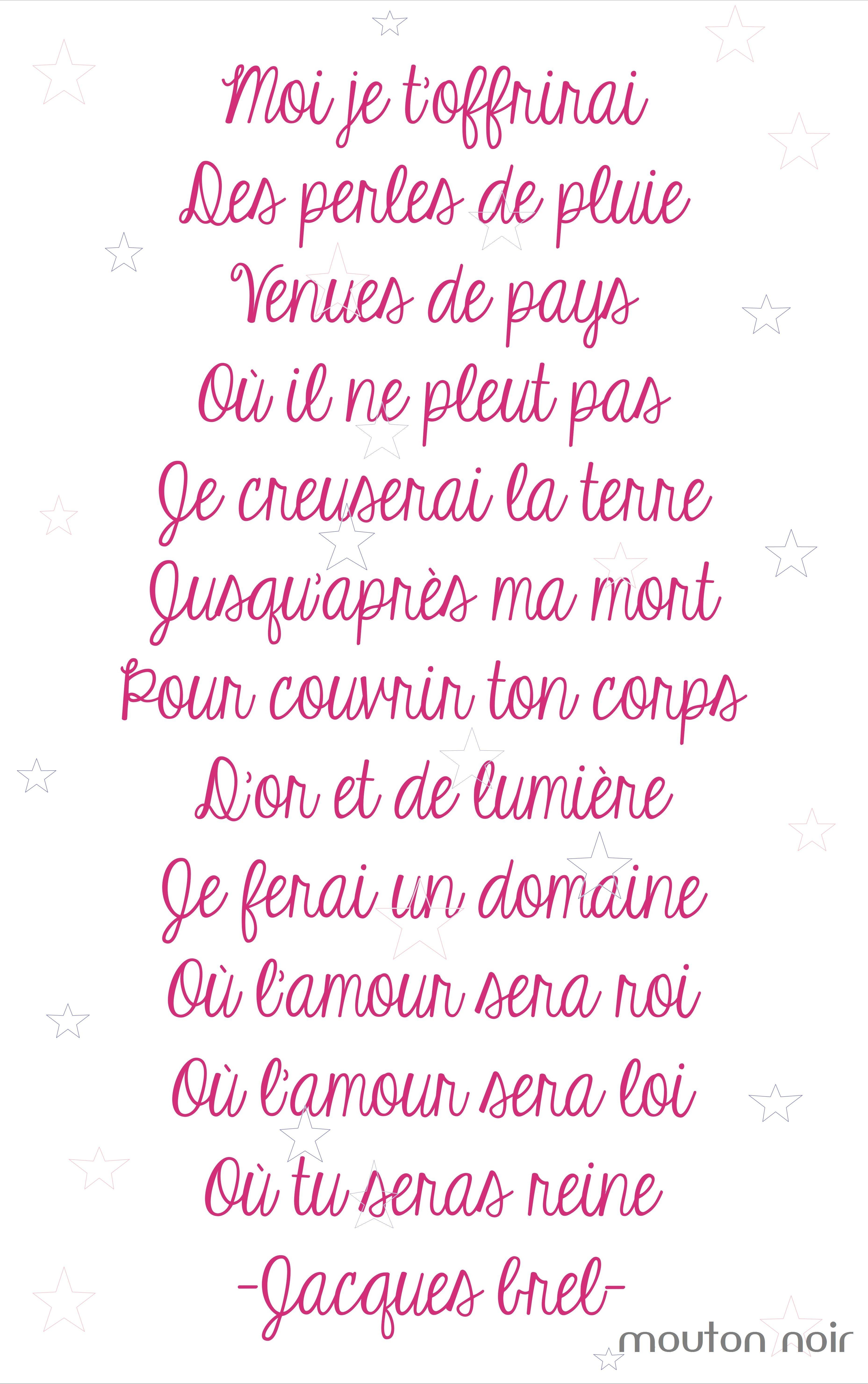 Beaux Mots Damour Ne Me Quitte Pas Jacques Brel