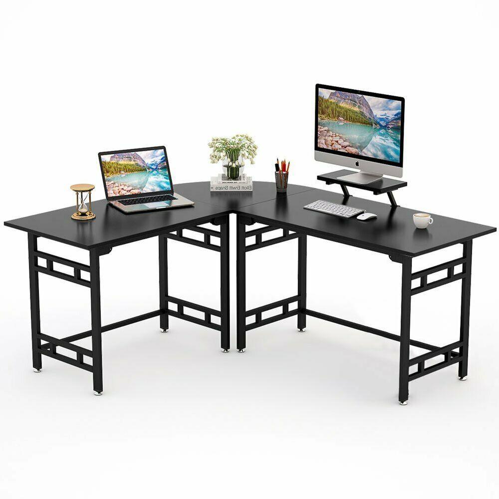 Tribesigns Modern L Shaped Corner Desk Large Computer Office Desk