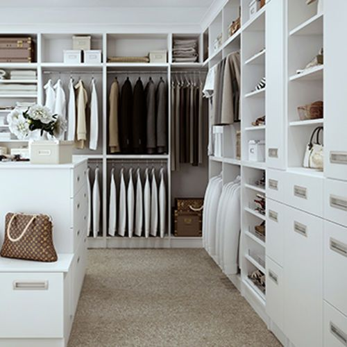 Custom Assembled Closets By Technik Cabinetry System