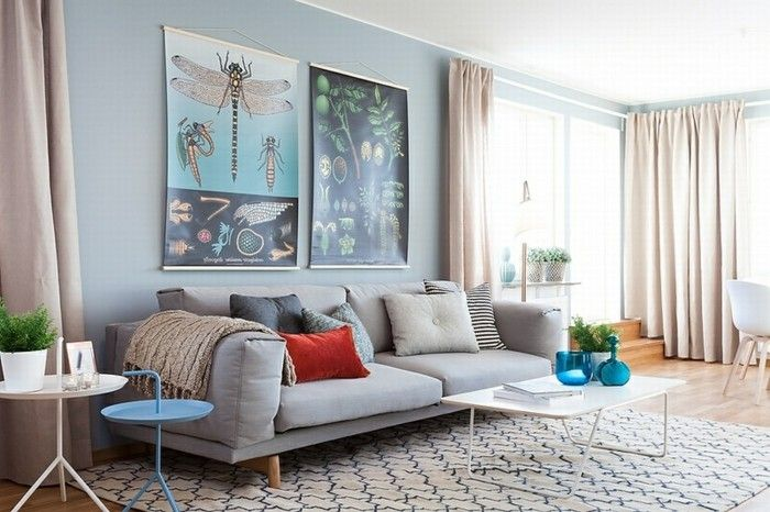 Sofa Gray Scandinavian Living Room Interior Design Ideas Living Room Carpet Wanddeko Living Room Scandinavian Blue Interior Design Living Room Pictures