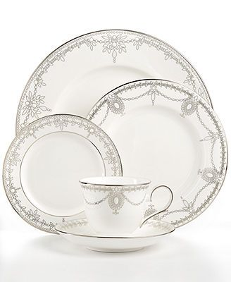 Marchesa by Lenox Dinnerware Empire Pearl 5 Piece Place Setting  sc 1 st  Pinterest & Marchesa by Lenox Dinnerware Empire Pearl 5 Piece Place Setting ...