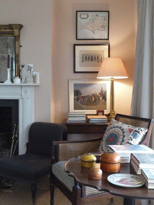 Ben Pentreath\'s chalky pink sitting room - F & B Setting Plaster ...