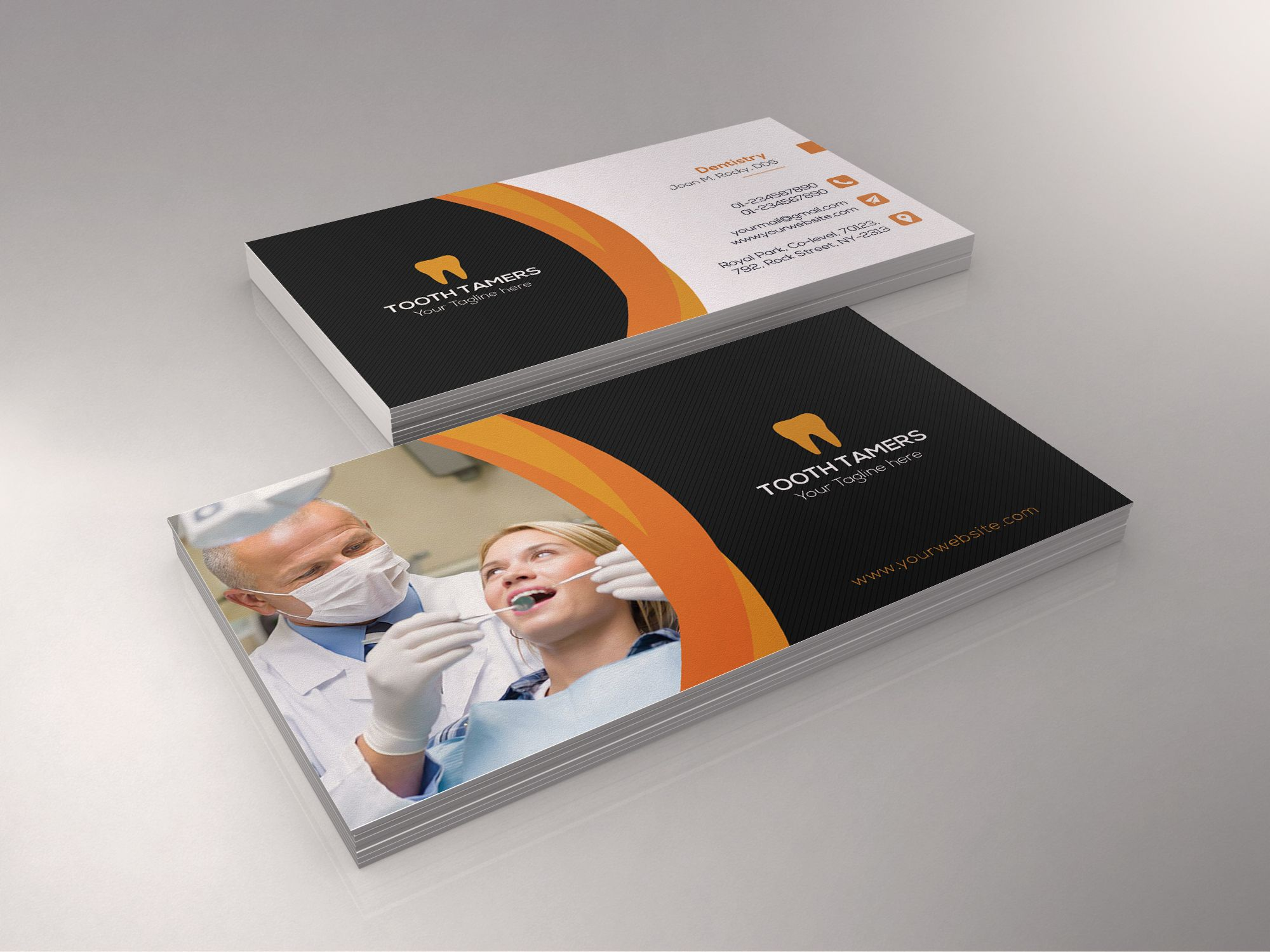 This Is A Dental Business Card Template This Template Download Contains A 300 Dpi Print Ready Cmyk Psd Dental Business Cards Dental Business Dental Marketing