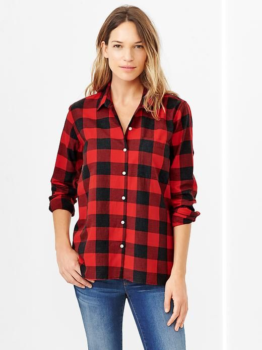 Gap #currentlyobsessed Plaid shirt for Fall // Buffalo Check ...