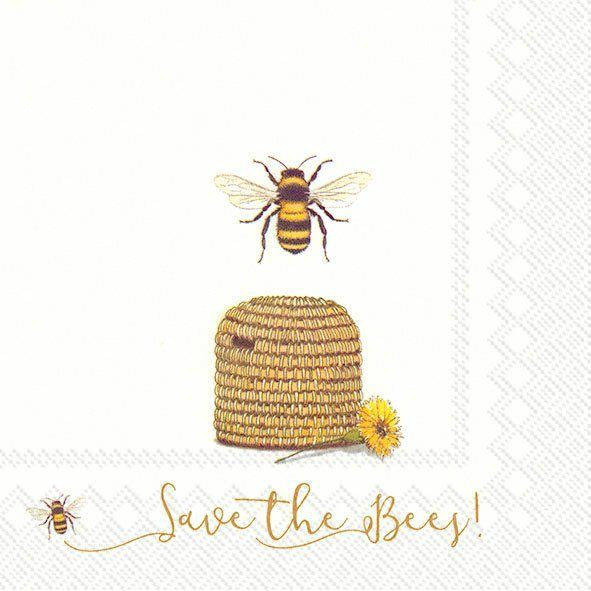 Serviette 'Save the Bees!'