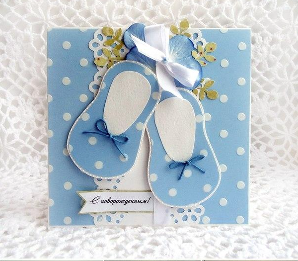 Baby Shower Ideas Baby Shoe Card Made With Love By You Baby Cards Cards Handmade Baby Congratulations Card