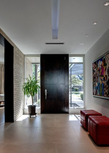 Modern contemporary foyer design, pictures, remodel, decor and ...