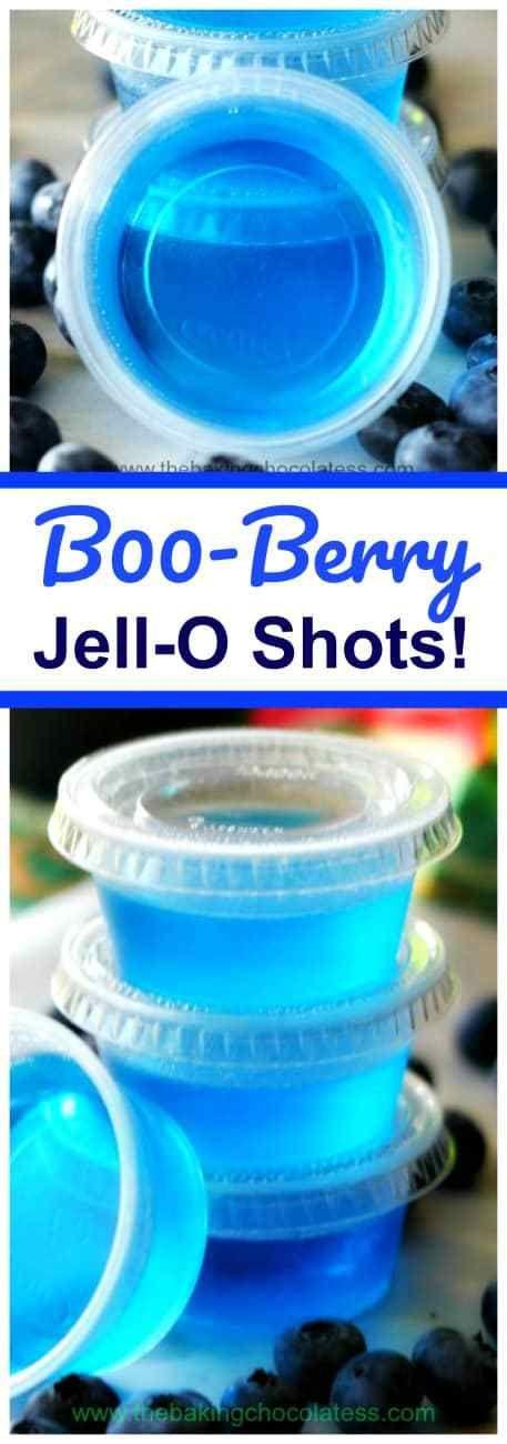 B00-Berry Jell-O Shots! #halloweenjelloshots