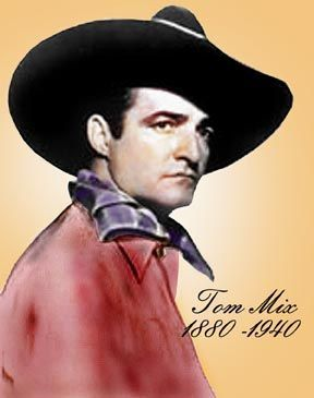 Tom Mix, silent western movie film actor, considered a megastar 1880-1940