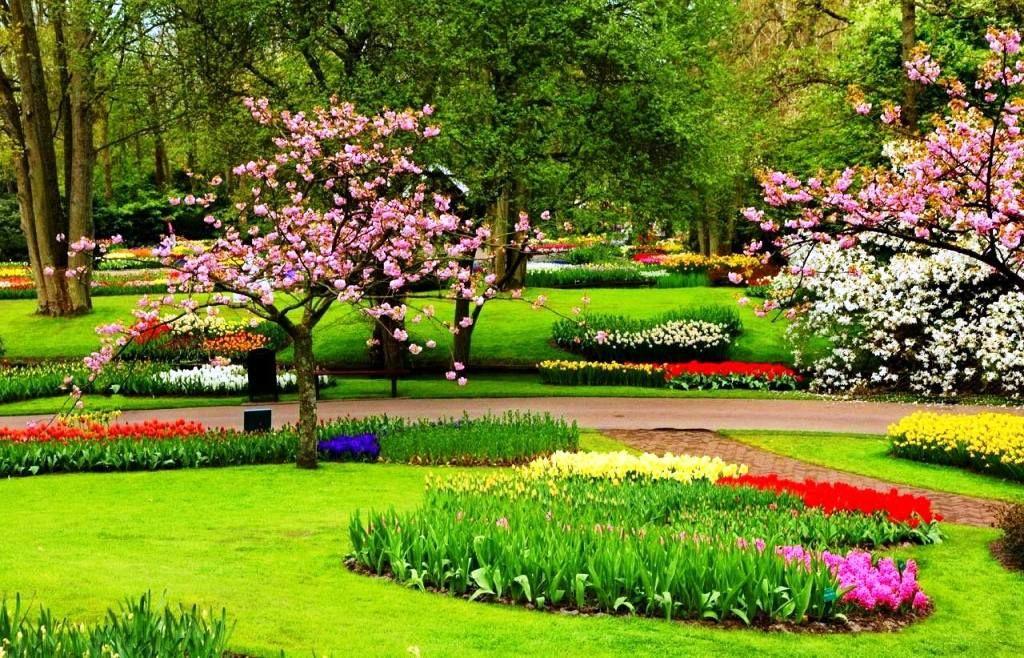 Gambar Taman Bunga Yang Indah Pain Beautiful Gardens Flowers Culture Travel