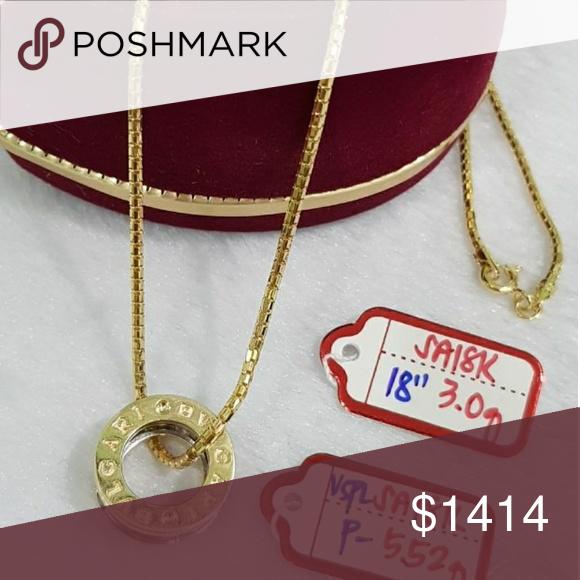 Saudi Arabia 18k Gold Necklace And Blvgari Pendant 18k Gold Necklace Gold Necklace Necklace
